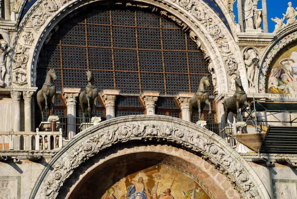 Basilica di San Marco a Venezia: i  quattro cavalli di bronzo